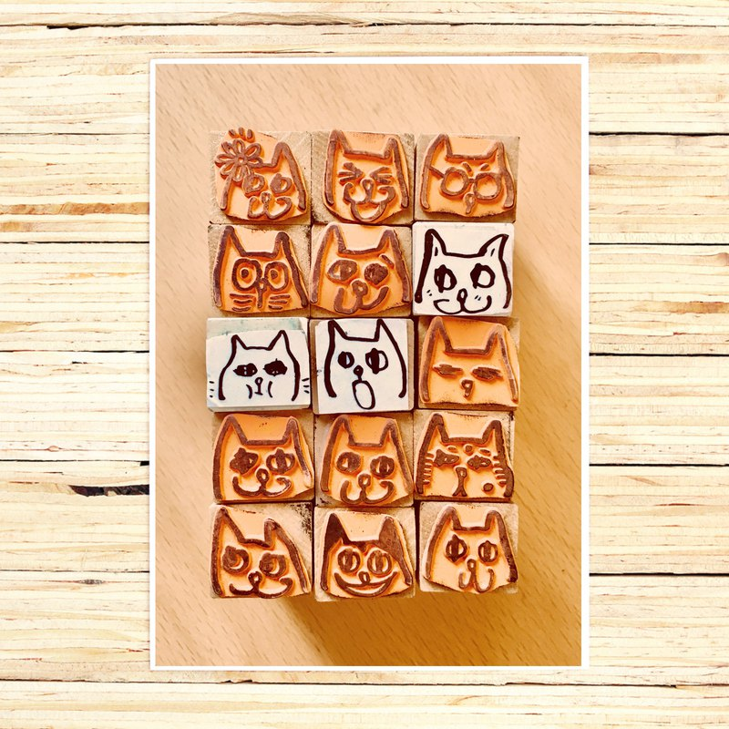 Cover your own MEOW head stamp 24 MEOW single sale