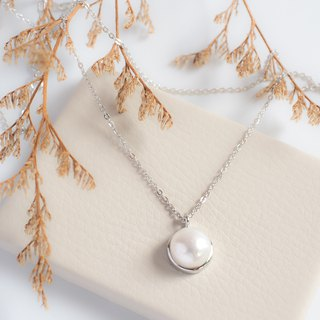 Minimal Single Pearl Necklace