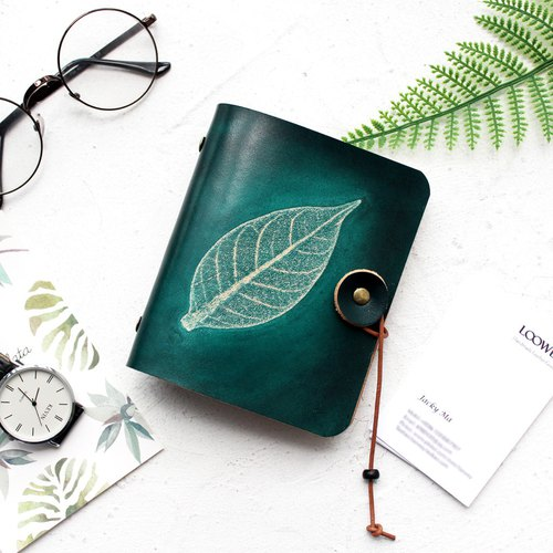 Graduation Gifts Father's Day Gifts such as 玮 dark green leaves wipe color vegetable tanned leather leather card holder / leather business card holder / ticket card business card this card card card card card holder customized card holder 40 card posit