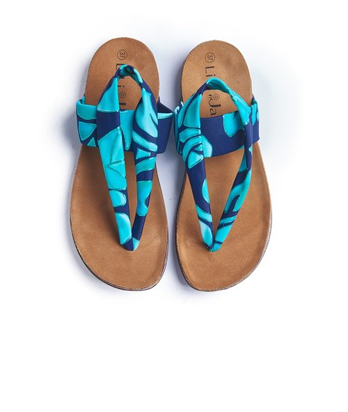 [Summer travel] High-stretch Lycra floral softwood slippers_翡翠翠