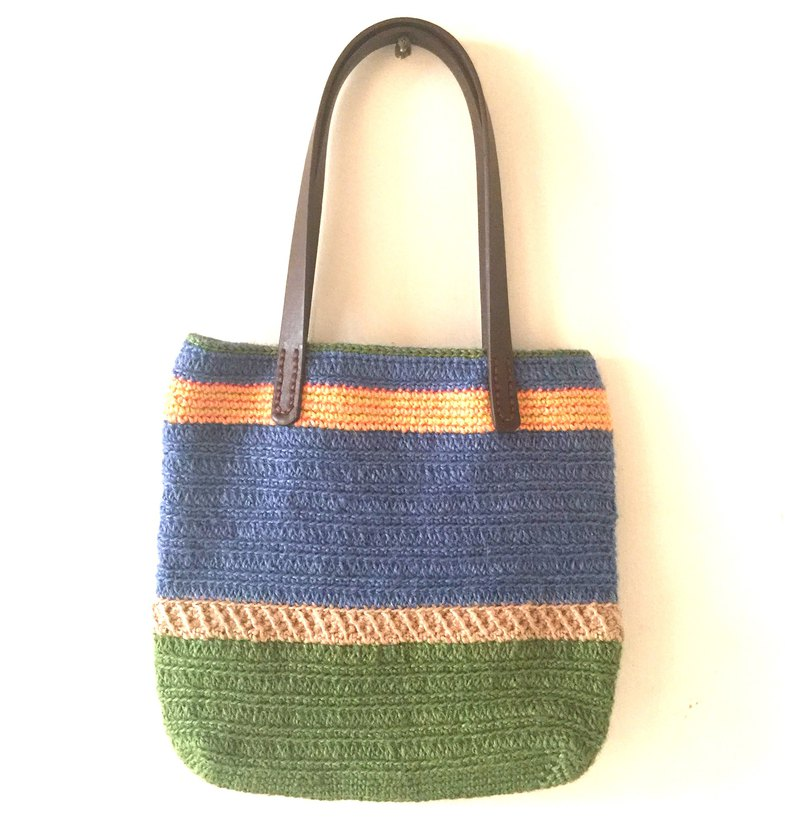 Fortunately and unfortunate linen weaving walking bag