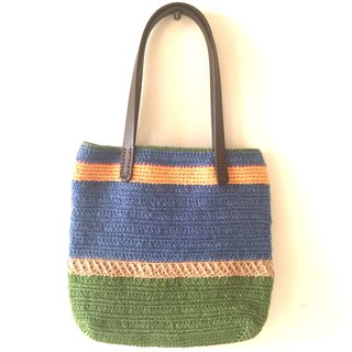 Fortunately, unfortunately linen woven walking bag