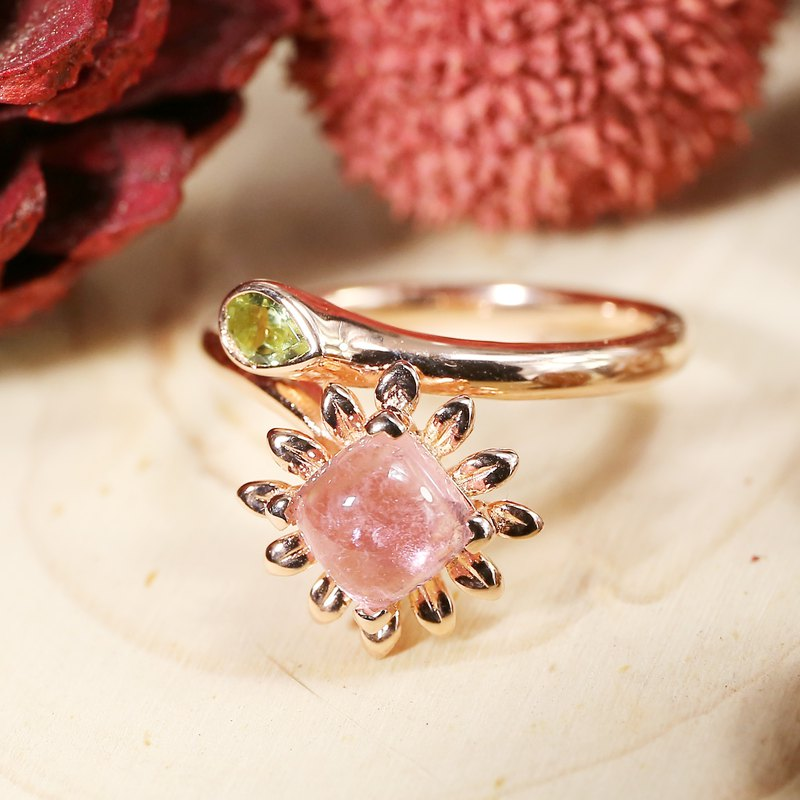 DAISY - Tourmaline 18K Rose Gold Plated Silver Ring
