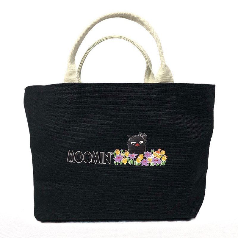 Moomin 噜噜米 authorized - Japanese small tote bag (black), AE01