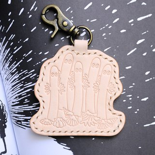 MOOMIN x Hong Kong-made leather tree key ring color material package officially authorized yo