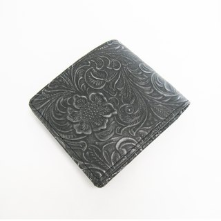 """Metal"" wallet CARVING double fold wallet"