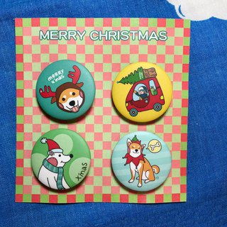 Christmas limited badge combination / badge