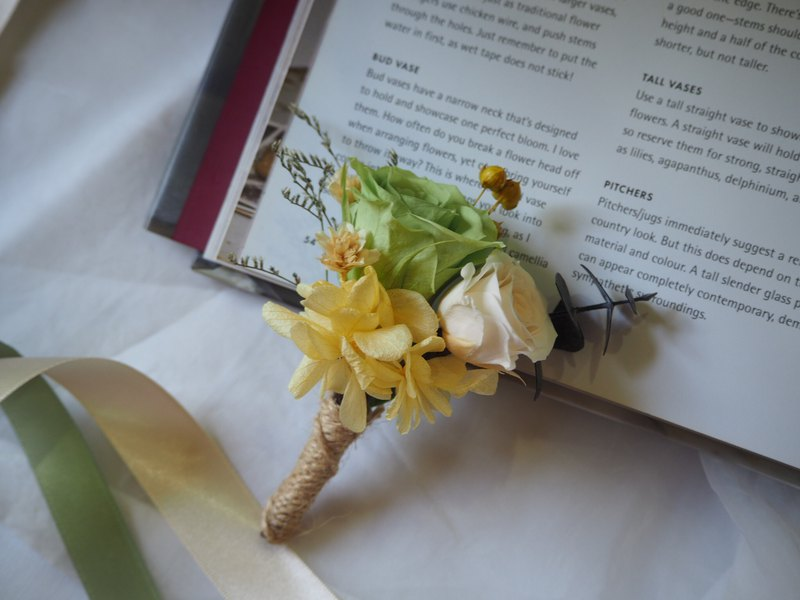 [GFD] not withered brooch - groom boutonniere / wedding small things / no withered flowers / dry flowers