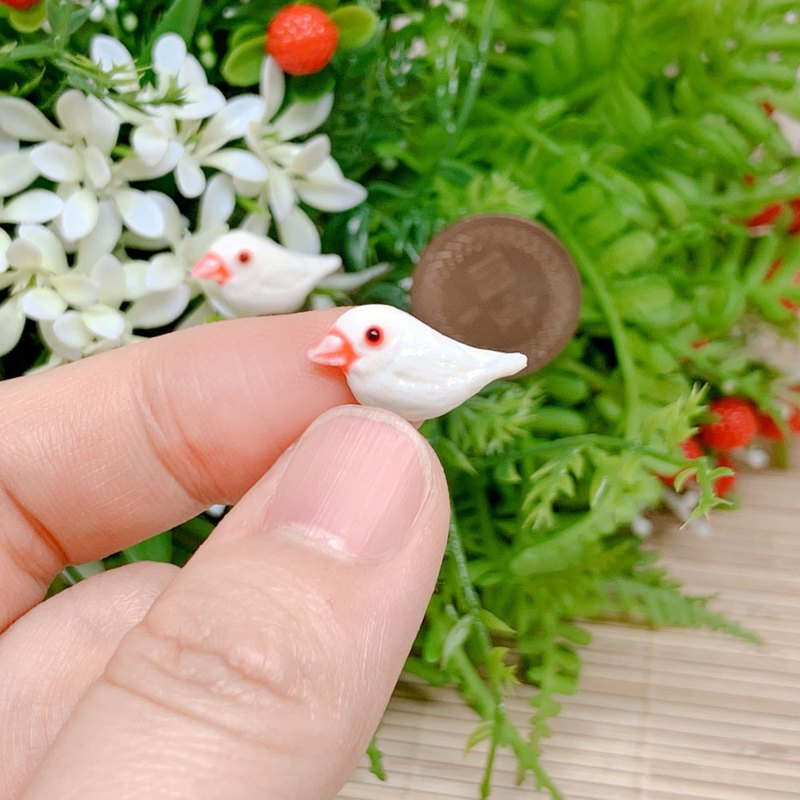Wen bird earrings anti-allergic ear clip ear clip