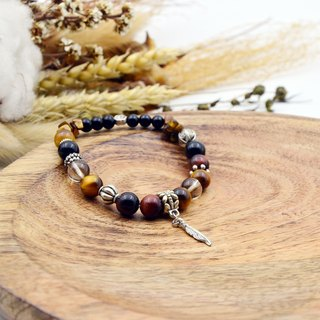 Dream not far | Red and yellow tiger eye stone - Cha Jing | natural stone bracelet