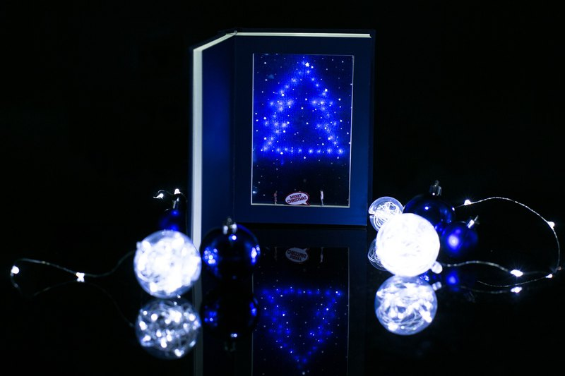 Christmas Gift【  Blue Christmas Book Lamp 】 LED Xmas Tree Night Light