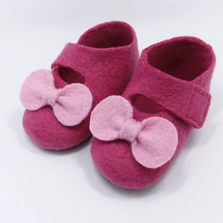 Wool felt baby shoes bow series of full moon ceremony