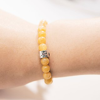 Topaz 6mm Beads Bracelet Precious Stones A-class Natural Silk