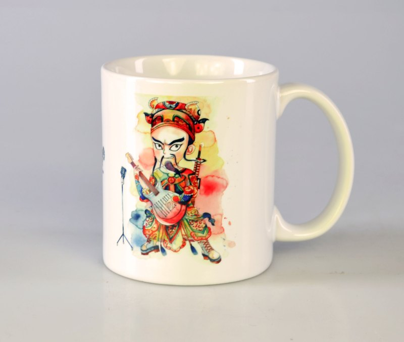 Tabby sheep - rock door God. Exorcism ghost / illustration mug