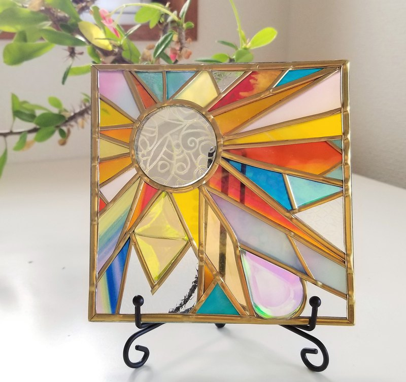 "Square glass ""Anywhere Sun catcher"""