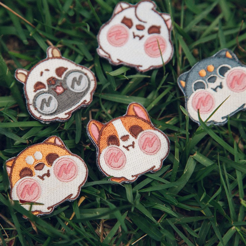 Millet Shiba Inu Electro-Embroidery Pin