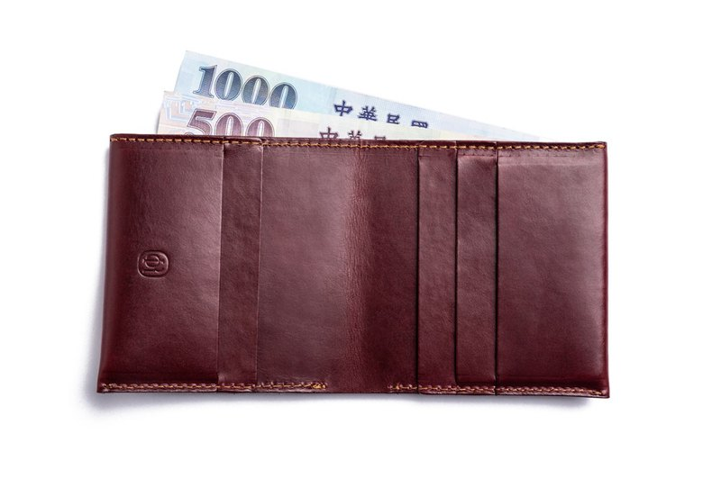 [First choice for gifts] City series wallet wine red│exchange gifts│gift recommendation