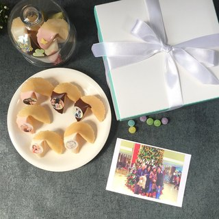 Birthday gift customized edible photo chocolate lucky fortune cookie TIFFANY point gift box 18 into
