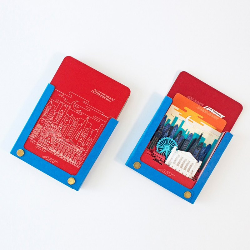 Super Texture Hand-Teared Stereo Note Paper _ Notepad Features - World City Series - Crimson England, London
