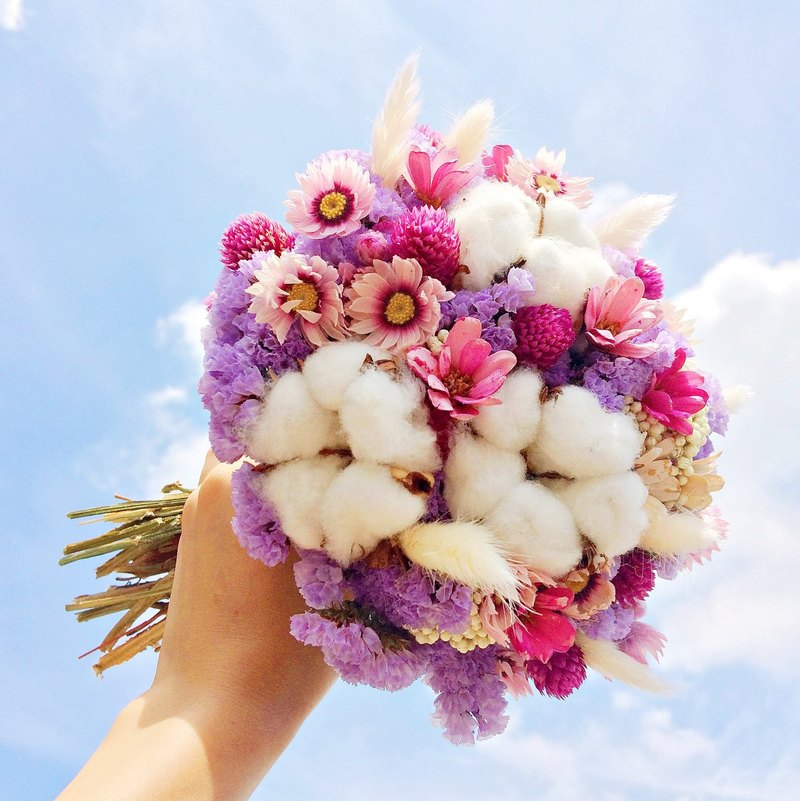 [Exclusive Customized Area-Wedding Bridal Bouquet - 15cm in diameter] (photo is for reference only)