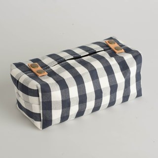 Black & White Plaid_tissue cover