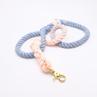 COTTON DOG LEASHES - BLUE OLDROSE