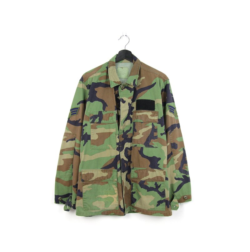 Back to Green:: American Army Field Camouflage Shirt-08// Army Vintage