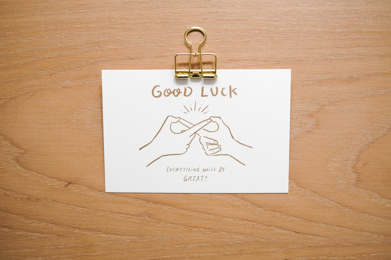 WHOSMiNG POSTCARD - GOOD LUCK