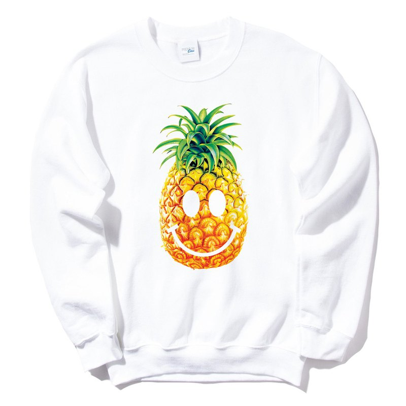 PINEAPPLE Smile University T bristles neutral version of white pineapple smiling face cheap fashion design own brand of fashionable fruit
