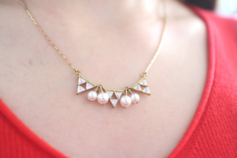 Fashion -Brass zircon necklace