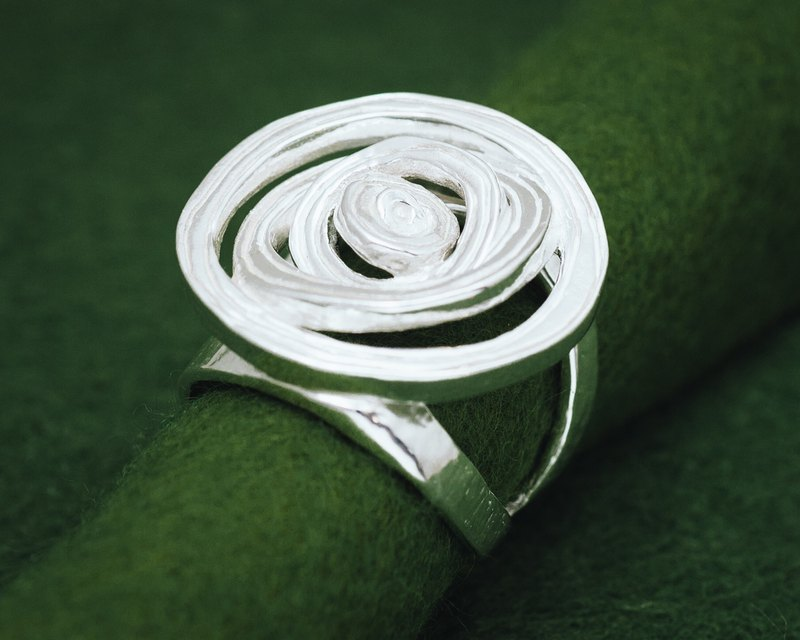 Onion slice ring - adjustable ring - free shipping - gift for her - japanese
