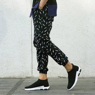 Caveman Pants - Talia Black Splash