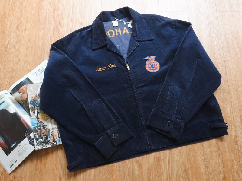 Vintage Jacket / FFA American Farming Team Work Jacket / Oklahoma No.114 tk
