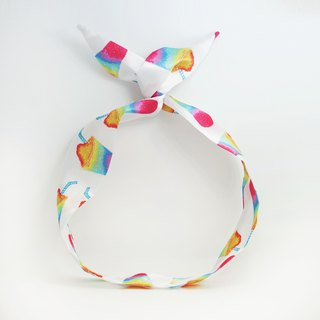 Ben Shou original handmade rainbow ice rabbit ear hair band