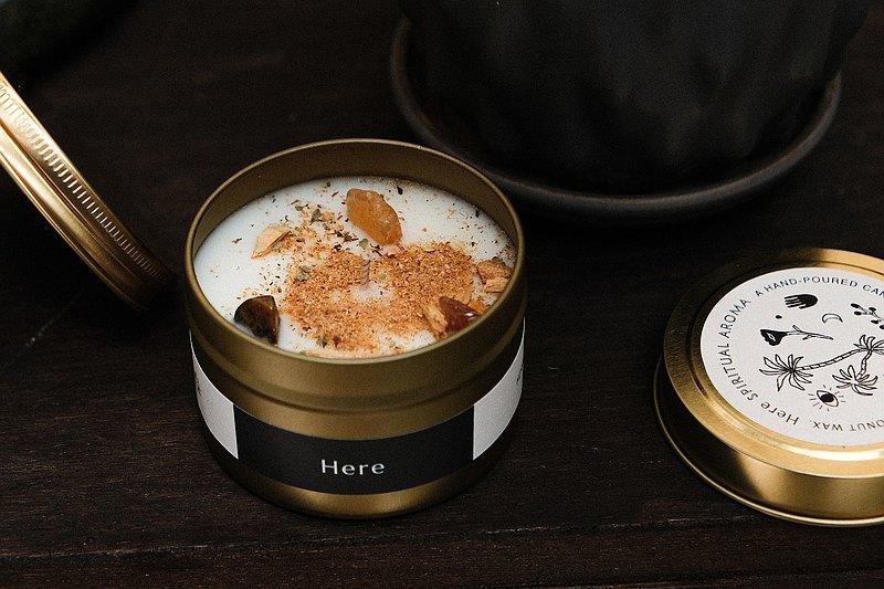 CLEAR&CREATE 水晶花草能量香氛蠟燭90g 秘魯聖木