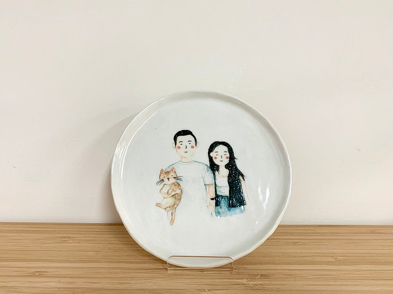 Portrait small porcelain plate-shinshinjiang order place