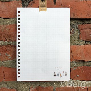 Berger stationery x traveler [26 hole loose-leaf paper] three designs
