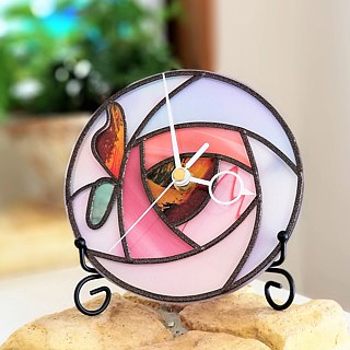 Reversible Round Acrylic hanger  watch  Fairy Rose