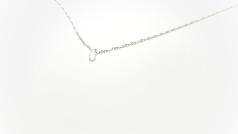 Limited Time Offer Natural Top Moonstone Clavicle Necklace Simple Series - Naked Light Jewelry