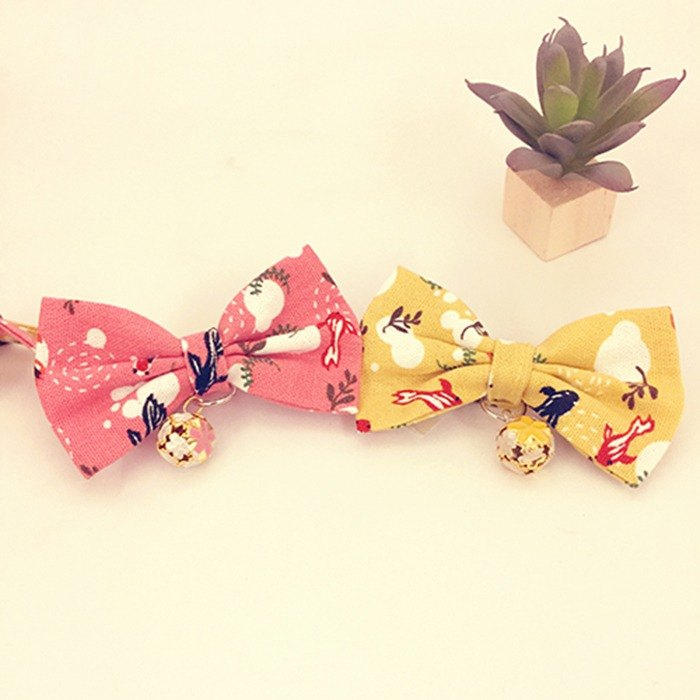 Goldfish bow pet decorative collar cat small dog mini dog