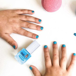 British [Miss Nella] children's water-based tear-proof safety nail polish - mermaid blue (MN01)