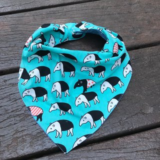 Fashion scarf * Malay mold <Lake blue> * Three-dimensional triangular bib