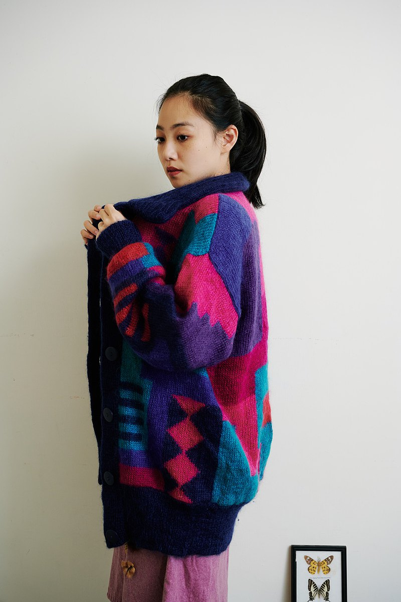 Guanxi Dialect Women | Britain Brings Back Colorful Sweater Jackets