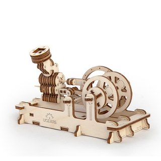 /Ugears/ Ukrainian wooden model pneumatic engine Pneumatic engine