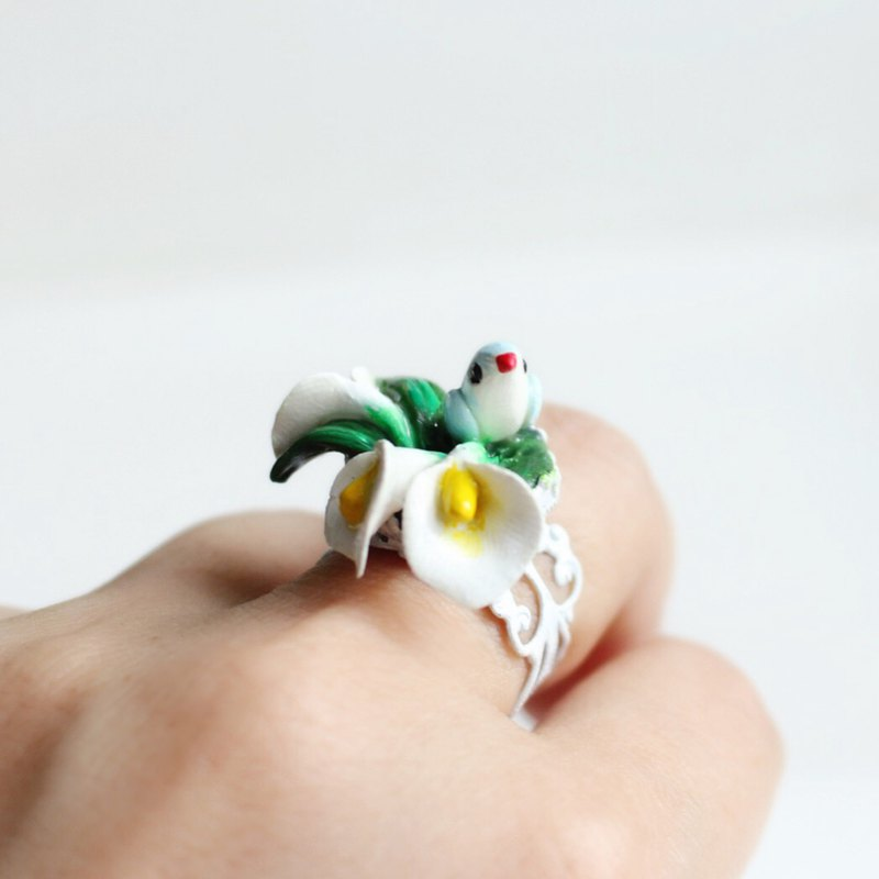 Calla Lily Ring I No. 87 Story ~ Simple Love