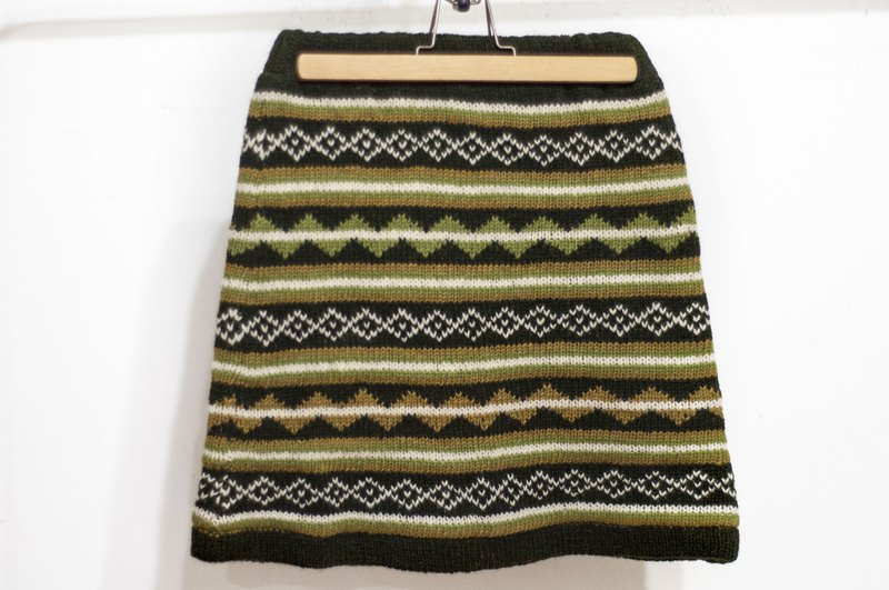 Wool crochet skirt / ethnic skirt / inner bristle knitted skirt skirt / bohemian skirt-South American grassland