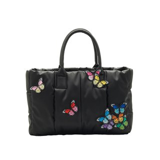 VOUS mother bag classic series foggy black models + group butterfly play embroidery bag