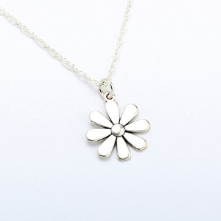 Daisy Flower s925 sterling silver necklace Valentine's Day gift