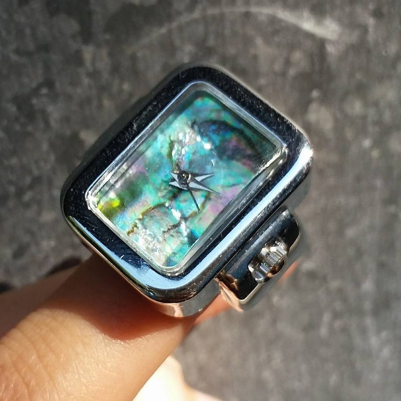 【Lost And Find】Natural ‎abalone ring watch