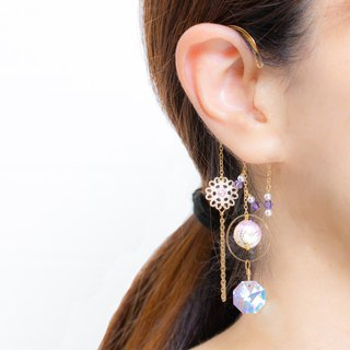 Arabesque pattern and Swarovski ear hook